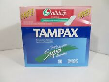 Tampax Super - 80 Tampons with 18 Always Alldays - Sealed from 2000