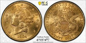 1904 $20 Gold Double Eagle Liberty Head PCGS Gold Shield MS61 TrueView