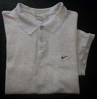 Nike Shirt Golf Polo XL Solid Ash Gray Black Swoosh Logo s2613