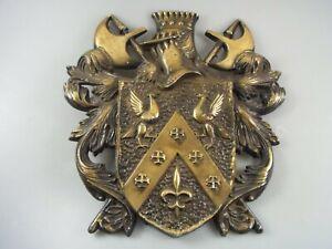 Vintage Wappen-Schild Adel Ritter ? ( Material wohl Alu ? ) K220820B0