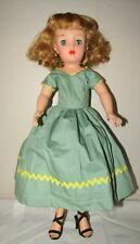 """Vintage Ideal Revlon Green Yellow Dress ONLY 18"""" Doll"""