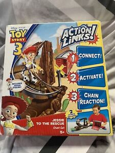 Disney Mattel Toy Story 3 Action Links Buzz Saves The Train Jessie To The Resuce