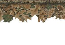 Camouflage Leaves Laser Cut Hunt Lodge Camo Sure Strip Wallpaper Border WD4130B
