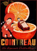 Cointreau 1930 Orange Liqueur Vintage Poster Print Retro Home Bar Decor Advert