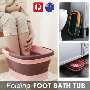 Folding Foot Spa Pedicure Bath Massage Tub Bucket Feet Basin Therapy Luxury AU
