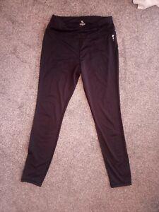 Women's TU Recycled High Waisted Black Workout Gym Running Zumba Leggings  12