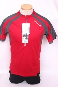 New Endura Men's Hummvee Jersey Cycling Bike Small Short Sleeve Red