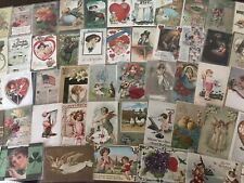 New ListingLot of 100 Holiday Greetings Postcards~Christmas~Easte r~Valentine's Thanksgiving