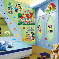 3D Mickey Mouse Clubhouse Wall Stickers Kids Bedroom Decor Decal Mural 60x90CM