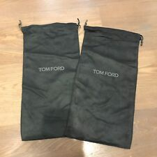 """Lot 2 Tom Ford Gray Faux Suede Protective Shoe Storage Dust Bag Cover 7"""" X 14"""""""