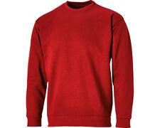 Dickies Sh11125 Crew Neck Sweatshirt Smart Casual Heavy Durable Comfortable Red 2xl