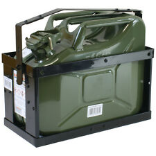 Stahlblechkanister oliv 10 Liter +  Halterung Benzinkanister Reserve-Kanister