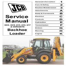 JCB 3CX 4CX  214 215 217 & 444 Dieselmax Engine manuals  2 in 1 Custom PDF CD !!