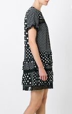 NWT Marc by Marc Jacobs Polka Dot Tiered  Black Dress sz8 M RARE $723.00