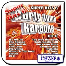 PARTY TYME KARAOKE CD CDG CD+G DISC BACKING TRACKS SONG SUPER HITS 6 POP