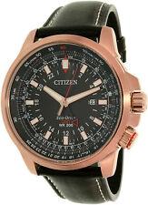 Citizen Men's Eco-Drive BJ7073-08E Black Leather Sport Watch