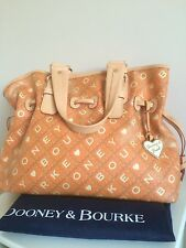 Dooney & Bourke handbag leather canvas large tote shopping RRP £350. Rare.