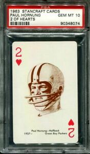 1963 STANCRAFT PLAYING CARDS PAUL HORNUNG HOF 2 OF HEARTS PSA 10 F2997779-074