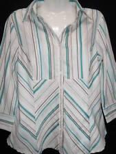 Jacqui E Nylon 3/4 Sleeve Tops & Blouses for Women