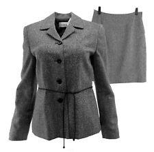 Villager Liz Claiborne Women Skirt Suit Petite Mixed 6 8P Tweed Herringbone 2 Pc