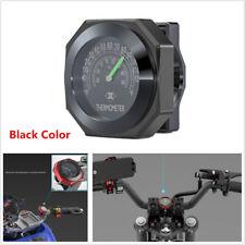 Black Motorcycle 22-28mm Handlebar Mount Thermometers Luminous Temperature Gauge