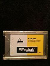 Megahertz XJ4288 PC Card Modem w/XJACK Conn 28.8/14.4 Data/Fax-Robotics-cellular