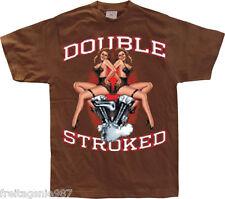 BIKER HOT ROD Double Stroked  T-Shirt camiseta 100% cotton