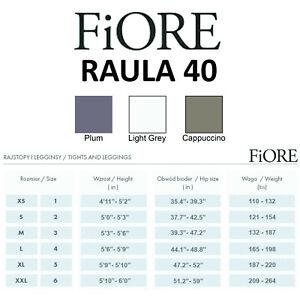 Fiore Elite Raula 40 Tights - Opaque Soft Shine Flat Seams Comfortable