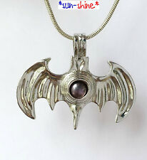 BULK! 5PCS COOL BAT Locket Cage Pendant for Bead, Gem of Pearl
