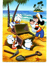 Mickey Mouse-Treasure Chest Gold-Disney Character-1966 Belgium Comic Postcard