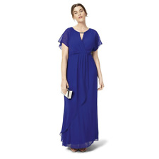 Studio 8 By Phase Eight Full Length Royal Blue Georgette Occasion Maxi Dress
