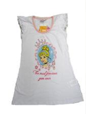Vestidos de niña de 2 a 16 años de manga corta blancas 100% algodón