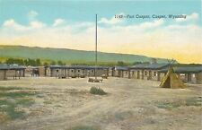 Casper Wyoming~Log Cabins, Teepee @ Fort Caspar 1940s
