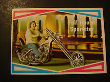 1972 Motorcycle TRADING CARD Street Chopper Harley Davidson Full House Sportster