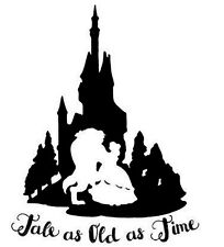 Decal Vinyl Truck Car Laptop Sticker - Disney Beauty And The Beast Tale Old Time