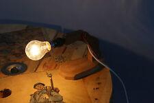 Ancienne pied de lampe en bois à système - Vintage - Rotations