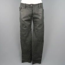 NICE COLLECTIVE Size 36 Slate Gray Aged Leather Casual Pants