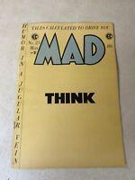 MAD #23 wally wood, jack davis 1955, SATIRE, EC COMICS, THINK COVER