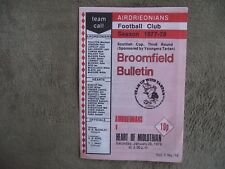 1977-78 (Jan) Airdrieonians  v Hearts - Scottish Cup Round 3
