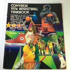 VTG The Converse 1974 Basketball Yearbook, Encyclopedia of 1973-74 Basketball