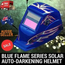 BLUE FLAME SOLAR WELDING HELMET AUTO DARKENING WELDER MASK LENS ARC TIG MIG MAG