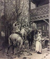 Ernest Meissonier par Alfred Boilot 1878 La Halte Cheval Chevaux Mousquetaire