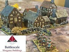10mm Wargame buildings Village set #2 (5 x UNPAINTED pieces)