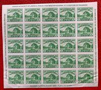 1933 US Stamp SC#730 1c American Philatelic Society Pane of 25 imperf.