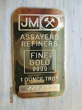 JM Assayers Refiners Fine Gold 9999, 1 Ounce Troy