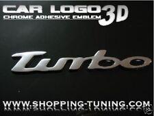 LOGO EMBLEM CHROME 3D TURBO PORSCHE 911 928 CAYENNE