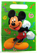 (8) Disney WOW Mickey Mouse Favor Goody Loot Bags Birthday Party Supplies