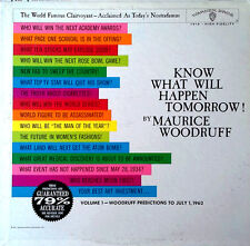 MAURICE WOODRUFF - KNOW WHAT WILL HAPPEN TOMORROW - WB LP - 1961