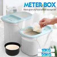 5/10KG Plastic Cereal Dispenser Storage Box Kitchen Food Grain Rice Container