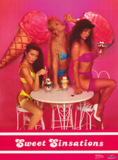 LOT OF 2 POSTERS:SWEET SINSATIONS - 3 SEXY MODELS IN ICE CREAM SHOP #2686 RC19 G